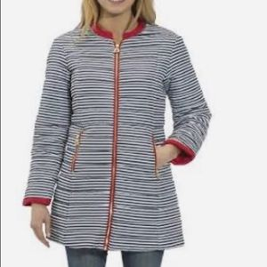 Sail to Sable quilted stripe coat